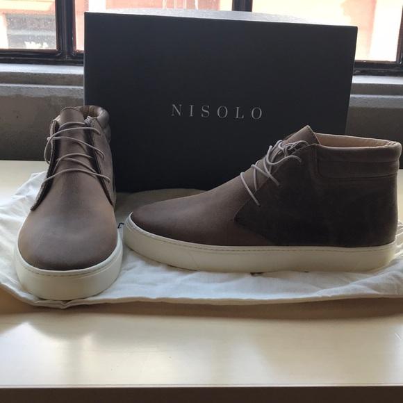 Nisolo Cortez Mid Top Sneaker Tobacco